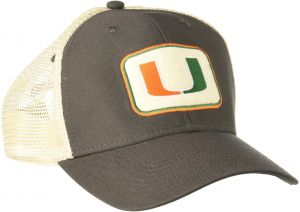 03203125861 Ouray Sportswear NCAA Miami Hurricanes Soft Mesh Sideline Cap