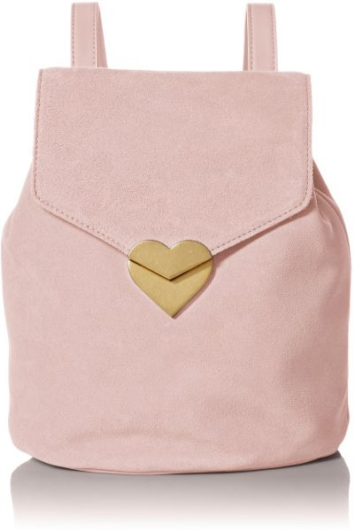 5d027005ac Dear Drew by Drew Barrymore Mini Me Suede Backpack with Heart Closure