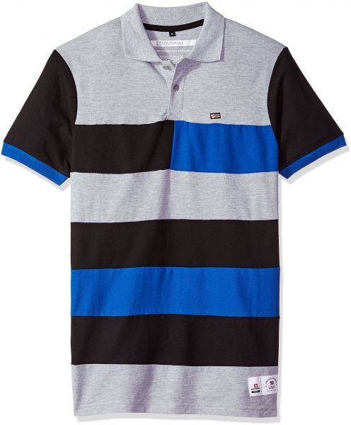 Southpole Men s Short Sleeve Stripe Polo Shirt 59bb1a052