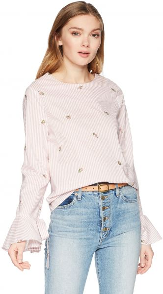 033df05e1e1 JOA Women s Long Tie Bell Sleeve Blouse