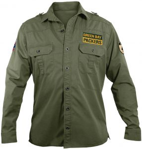af2ce56a9b9 NFL Green Bay Packers Men s Military Field Shirt