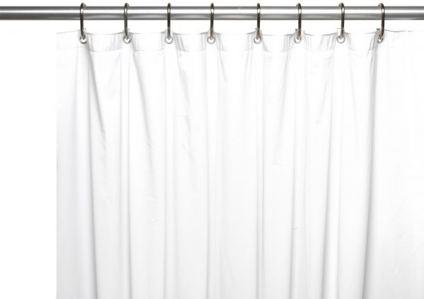 Carnation Home Fashions 8 Gauge Vinyl Shower Curtain Liner X Long 72 84 White