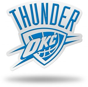 Rico NBA Oklahoma City Thunder Team Color Auto Emblem 3D Sticker