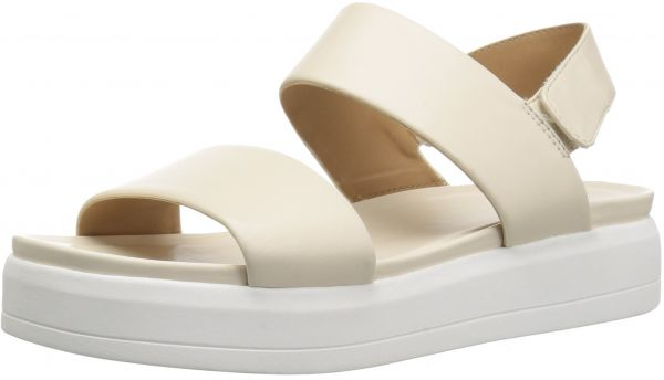 6e43f8bdd87 Franco Sarto Women's Kenan Wedge Sandal, Milk, 5.5 M US