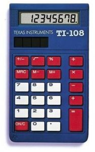 4ac82e51a9532d Texas Instruments TI-108 Solar Power Calculator Teacher s Kit (set of 10)