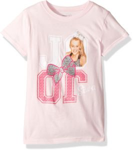 Nickelodeon Big Girls JoJo Siwa Reflection Short Sleeve T Shirt Light Pink S