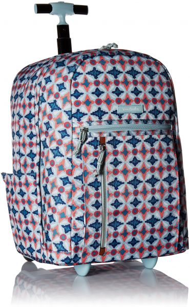 Vera Bradley Lighten up Large Rolling Backpack, Polyester, Water Geo   Souq  - UAE a51d5e46b9