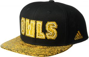 reputable site 07d95 541ce adidas NCAA Kennesaw State Owls Adult Men White Noise Flat Brim Snapback,  One Size, Black