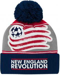 7ffbfe604aa8c3 Outerstuff MLS New England Revolution Youth Boys Fan Cuffed Pom Hat, 1 Size,  Dark Navy