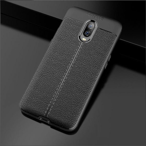 the best attitude 9f12d ea9fa OnePlus 6T Case Carbon Fiber oneplus 6t TPU Silicone leather Soft Full Back  Cover For One Plus 6T shockproof