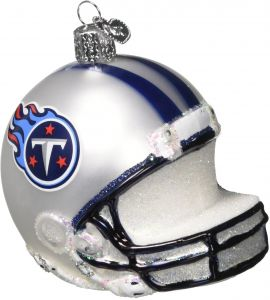 Old World Christmas Ornaments  NFL Tennessee Titans Helmet Glass Blown  Ornaments for Christmas Tree d0344883f