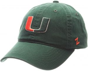 ded3b454325 Zephyr NCAA Miami Hurricanes Men s Scholarship Relaxed Hat