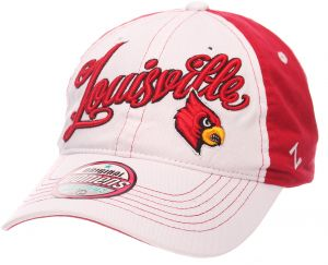 newest a9cfe 8ed4b Zephyr NCAA Louisville Cardinals Adult Women Vogue Women s Relaxed Hat,  Adjustable, White Team Color