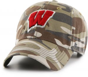 02024bd857e5a  47 NCAA Wisconsin Badgers Women s Sparkle Camo Clean Up Adjustable Hat