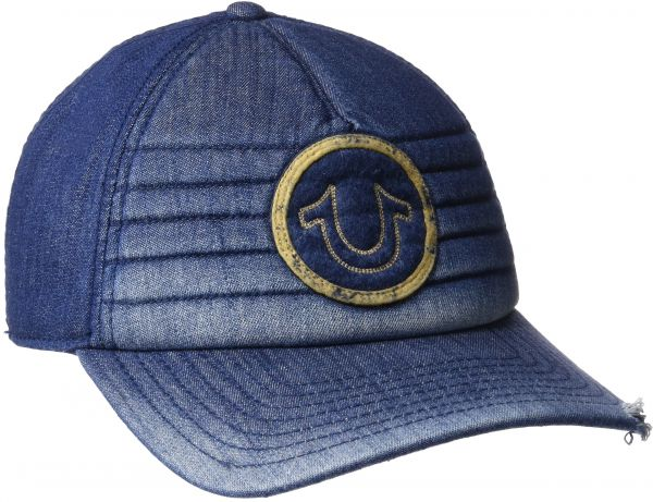 f34792b1717 True Religion Men s Precurved Moto Denim Cap