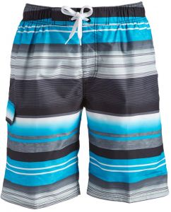 5960503a61 Kanu Surf Men's Victor Stripe Quick Dry Beach Board Shorts Swim Trunk,  Black, Medium