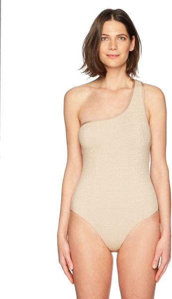 a8d119172 Jantzen Women's Texture Shoulder One Piece Swimsuit, Gold, 4. by Jantzen,  Swimwear - Be the first to rate this product