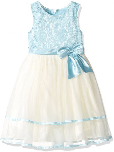 6eb7db687d9 Jayne Copeland 2-6x Little Girls  Blue Lace Top with Tulle Skirt ...