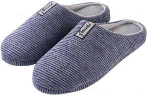 d101f18825e AERUSI Men s Trento House Slipper Light Slate Gray Size 13.5