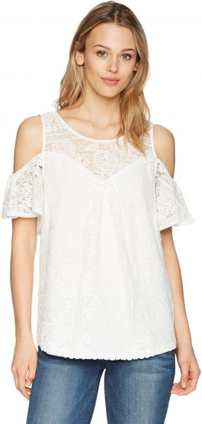 ffdb024034771 Vintage America Blues Women s Cleo Cold Shoulder Lace Top