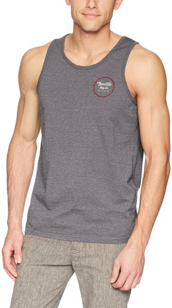 47f96b51f1d0e Brixton Men s Wheeler Tailored Fit Tank Top