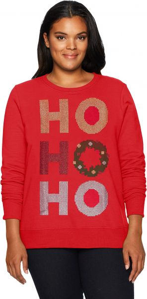 8a7e8fcce07af Just My Size Women s Plus Size Ugly Christmas Sweatshirt