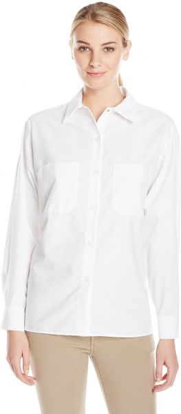 2c109b16 Red Kap Women's Long Sleeve Industrial Work Shirt, White, X-Large. by Red  Kap, Work Safety Equipment & Gear - 8 ratings