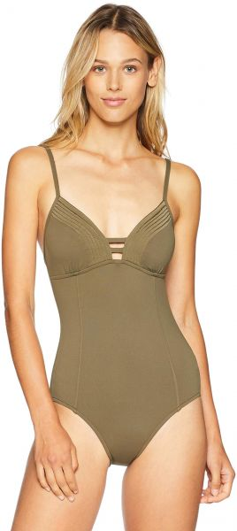 Seafolly Women s Solid One Piece Swimsuit with Quilted Detail d315a3eff