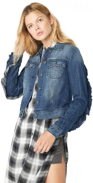 2476930f9bcd6 Jessica Simpson Women s Peony Relaxed Denim Jacket