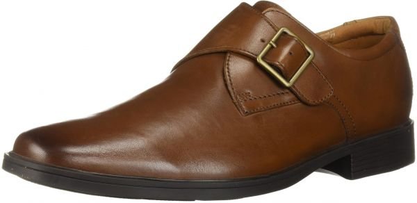 free delivery free delivery great prices CLARKS Men's Tilden Style Monk-Strap Loafer, Dark Tan Leather, 095 M US