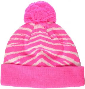 c8e7b1ad64f Zubaz Men s Knit Winter Stocking Beanie Pom Hat