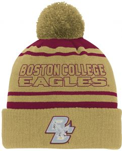 sports shoes 1b552 8c8d0 NCAA Boston College Eagles Youth Boys Reflective Cuff Knit Hat w Pom,  Burgundy, Youth One Size