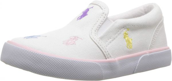 09c600f34 Polo Ralph Lauren Kids Girls  Bal Harbour Repeat Sneaker