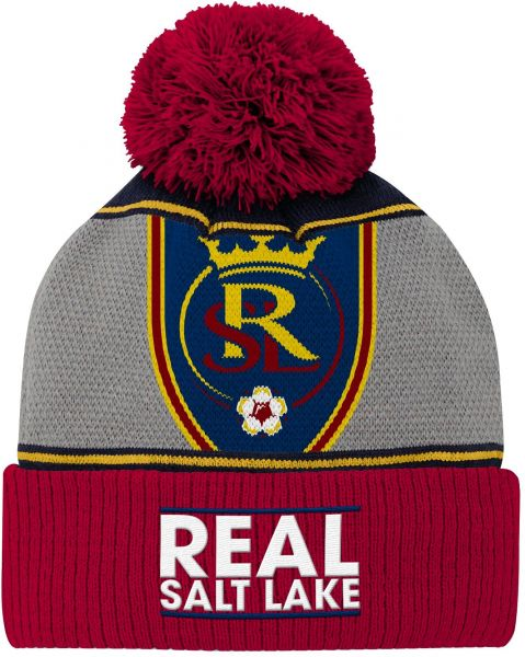c1639eafd93ed Outerstuff MLS Real Salt Lake Youth Boys Fan Cuffed Pom Hat
