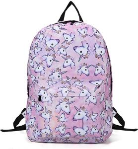 9314bc1ab7e2 Soft And Comfortable Girl Student Pink Backpack Girls Rainbow Backpack - 3D  Unicorn Printing Multicolor Rainbow Girl School Bag Travel Rucksack (Color  Pink)