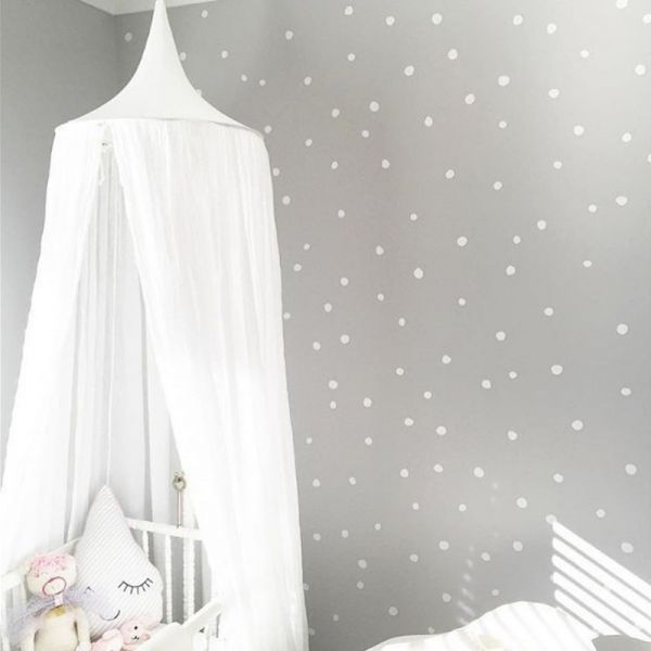 Kids Bed Canopy Hanging Mosquito Net for Baby Crib Nook Castle Game Tent Nursery Play Room Decor White | Souq - UAE & Kids Bed Canopy Hanging Mosquito Net for Baby Crib Nook Castle Game ...