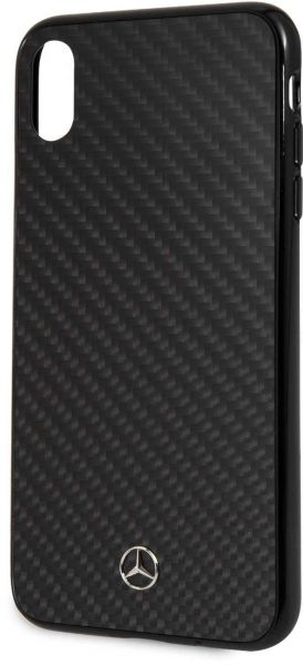 competitive price df054 6bef5 Mercedes-Benz Real Carbon Fiber Hard Case for iPhone Xs Max - Black