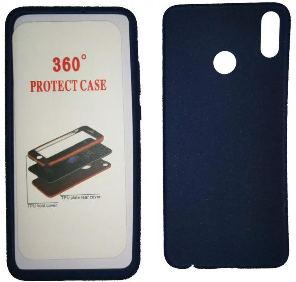 Silicone Case 360 full 2 pieces for Honor 8X , Navy