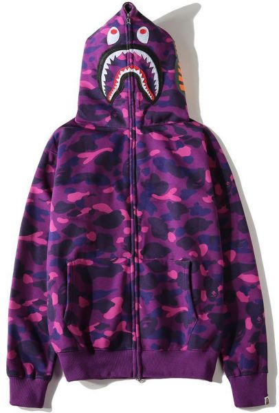 fa92c5027e0 Bape Shark Purple Classic Pullover Hoodie Unisex Hooded Sweatshirt For Men  And Women