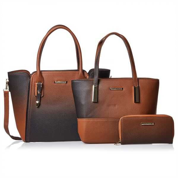 Vernika Handbag Set For Women Brown