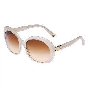 ebf4fb96fde Emporio Armani Oval Sunglasses for Women - Brown Lens