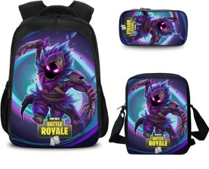 4c0d6cb67d2 3 PCS set Fortnite Game 3D Print Boys School Backpack Insulated Lunch Bag  Pencil Case School Travel Book Bag for Kids children student