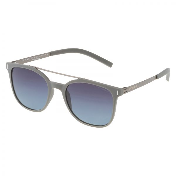 7fde429a41816 Police Men s Square Plastic Semi Matt Dark Grey Sunglasses - SPL16952L61P  52-20-145mm