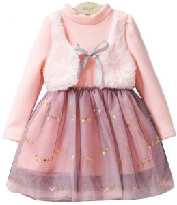 cb34529f297 Princess lace pink dress high quality in summer  autumn for 3-4 years old