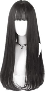 Hair Extensions & Wigs Nice Black Wig Fei-show Synthetic Heat Resistant Long Curly Middle Part Line Hair Costume Cos-play Halloween Carnival Party Hairpiece