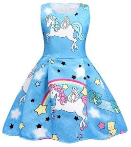 90b20affebe80 3-10 Y Unicorn Dress for Girls Kids Birthday Party Unicorn Costume Outfit  Pompous Skirts Dance Costumes Dress