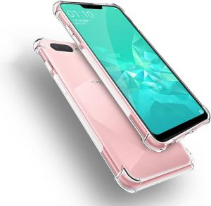 OPPO A3S Case, Clear Anti Crack Slim Phone Cover