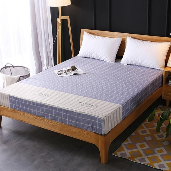 Checks Printed Fitted Bed Sheet With Elastic Band Souq Uae