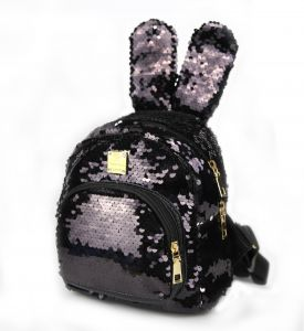 Slovey Mermaid Sequins Kids Backpack with Bunny Ear Small Shoulder Bag  Fashion Mini Bag for Kids Girls Birthday Gifts d387b949b9321