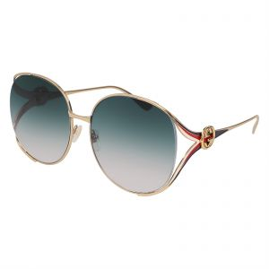 22381bf03f Gucci Oversized Sunglasses for Women - Blue Lens